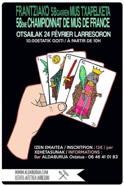 58ème tournoi de Mus de France - aldaburua - Pays basque